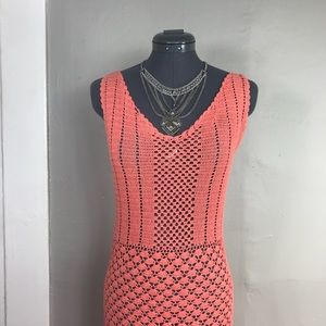 Other - Coral Pink Mermaid Crochet Beach Cover Dress